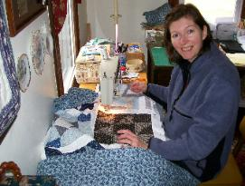 Janie donates her quilting services to Relay for Life for their quilt raffles.